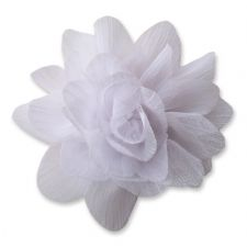 7cm Lily WHITE  Fabric Flower Applique